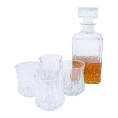 Ardisle 4 x 200 ml VIDRIO VASOS WHISKY vino y de cristal cuadrado BOTELLA DECANTADOR Caja