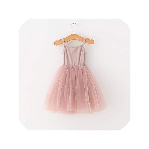 Children Formal Kids Fluffy Cake Smash Dress Girls for Christmas Halloween Birthday,Pink,6]()