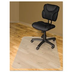 - Reg Chair Mats For Hard Floors, 60 x 46, Slightly Tinted