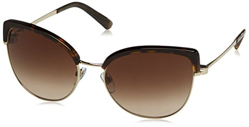 Bvlgari BV6082 278-13 Tortoise / Gold BV6082 Cats Eyes Sunglasses Lens - Bvlgari Gold
