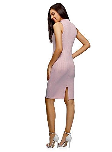 Colletto Donna A Oodji Alto 4000n Con Ultra Abito Coste Rosa gBSwwvYq