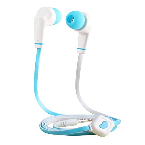 Eachbid Running Headphones Over Ear in Ear Noise Isolating Sport Earbuds Earphones with Remote and Mic Earhook Wired Stereo Workout Ear Buds for Jogging Gym for iPhone iPod Samsung Blue