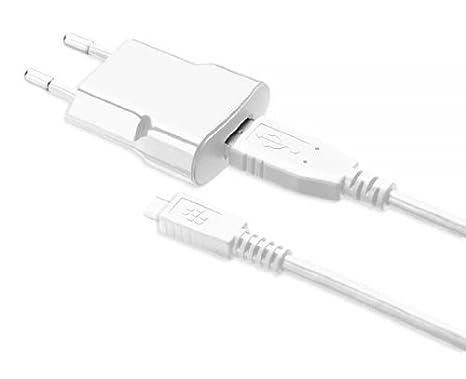 Blackberry O98ACC39501201W - Cargador directo y cable de datos MicroUSB (750 mAh, 1.2 metros) Blanco: Amazon.es: Electrónica