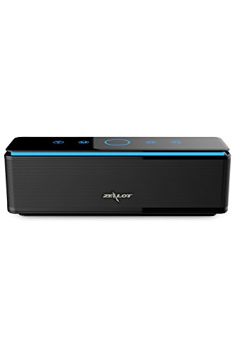Bluetooth Speakers, ZEALOT S7 Touch Sensitive Gesture Control Quad-Driver Wireless Home Theater System with Enhanced Bass and 10000 mAh Power Bank (Black)