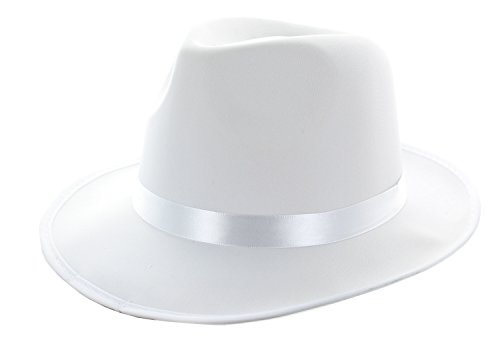 White Gangster Fedora
