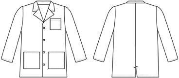 Landau Kid's Lab Coat size 8-10