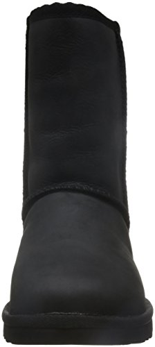 Classic Leather Mujer Black Short UGG para Botas wRdS0ndfq
