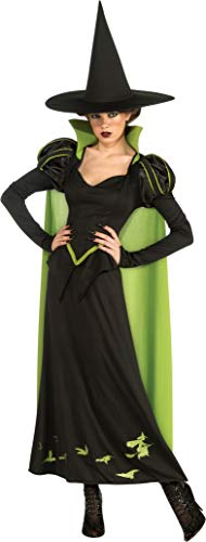 Wizard Of Oz Witch Costumes (Rubie's Wizard Of Oz 75th Anniversary Edition Adult Wicked Witch Of The West, Black/Green, One Size)