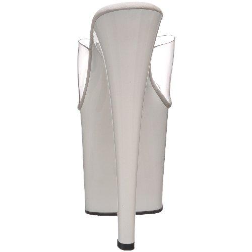 Pleaser Taboo-701 - Sandalias Mujer Blanco (weiss (Clr/Wht))