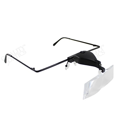 Lighted Dental Lab Magnifier Kit W/ Light LED 3 Lens Fit Over Glasses - Get Prescription How I Can Glasses Free