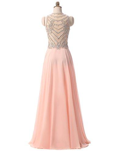 Kleider Lange Elegant Erosebridal Abendkleider Ballkleid Perlstickerei tx4FwY