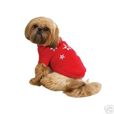 Zack &Zoey Twinkling Stars HOLIDAY DOG Sweater EX SMALL