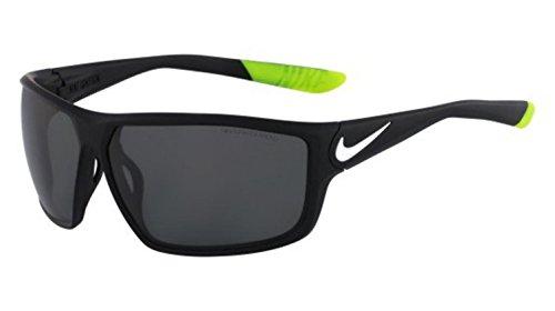 Nike EV0868-010 Ignition P Sunglasses (One Size), Matte Black/White, Grey Polarized - Sunglasses Baseball Nike