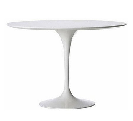 """Saarinen Style Tulip Round Dining Table 36"""" - White for sale  Delivered anywhere in USA"""
