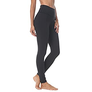 QUEENIEKE Women Yoga Leggings Workout Pants Running Peach Hip Size S Color Black