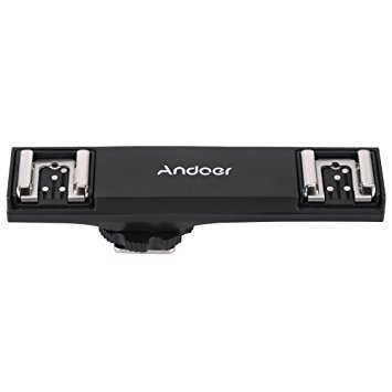 Andoer Dual Hot Shoe Flash Speedlite Bracket Splitter for Nikon D750 D7200 D7100 D7000 D800 D810 D600 DSLR Camera Camcorder