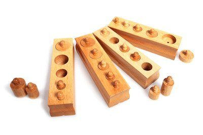 Mini Knobbed Cylinders Set of 4 Children Wooden (Cylinder Toy)