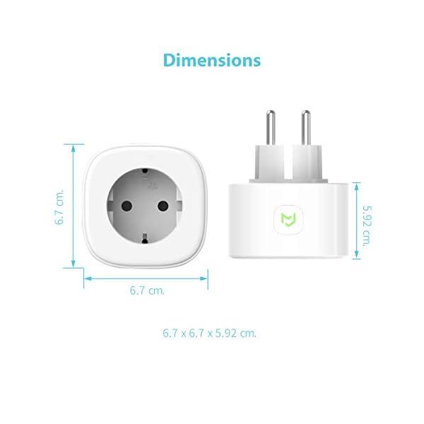 Presa Intelligente Wifi Smart Plug Spina Wireless 16A 3680W, Funzione Timer, Compatible con SmartThings, Alexa, Google… 6 spesavip