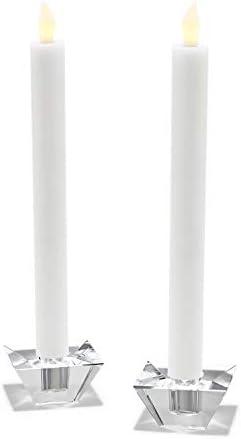 燭台 2透明幾何ガラスコーンキャンドルホルダーシンプルなリビングルームヨーロッパ装飾キャンドルホルダーのセット (Color :