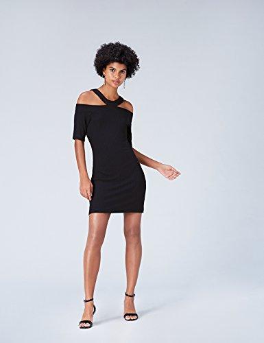 Robe FIND Femme Noir Dnudes Black Epaules 6TTqafCx