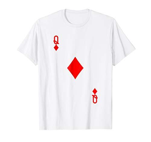 Queen of Diamonds Costume Tshirt Halloween Deck of -