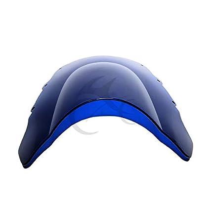 Amazon.com: Beesclover - Parabrisas doble burbuja azul para ...