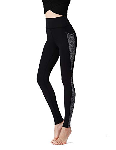 Smile Banana New Fitness Yoga Pants, High Elasticity and Quick-Drying Leggings,Tummy Control Wrokout,4 Way Stretch (Grey, X-Large)
