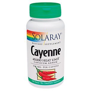 Solaray Cayenne 40,000heat unit, 100 -