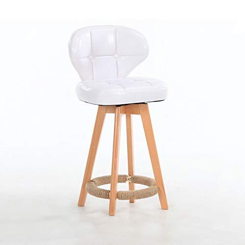 Amazon.com: Barstools Wooden Bar Stool, Rotate Backrest High ...