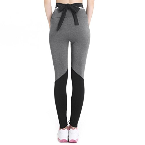 Longay Women Crisscross Bandage Leggings Push up Compression Yoga Pants