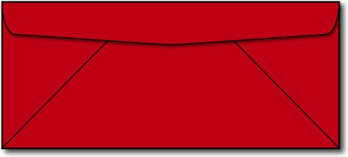 Red #10 Envelopes - 250 Envelopes - Desktop Publishing Supplies™ Brand Envelopes (Envelopes Business Red)