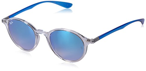 Ray-Ban Women's RB4237 62894O Non-polarized Sunglasses, Blue Transparent/Blue Gradient Flash, 50 - Ban Gradient Ray Flash Blue