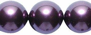 Swarovski Crystal Pearl Beads Jewelry - Swarovski 5810 Crystal Round Pearl Beads, 10mm, Burgundy, 10-Pack