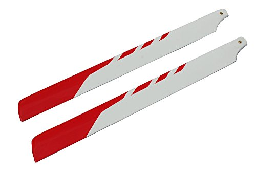 2PCS1 Pair 325MM Fiberglass Fiber Glass Main Rotor Blades For Align T-rex 450 450SE V2 V3 450XL RC Helicopter Red and white style Fiberglass Rotor Blades