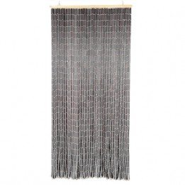 - EVIDECO 5501392 Wooden Sticks Beaded Curtain Doorway 65 Strings Dark Brown 78.8