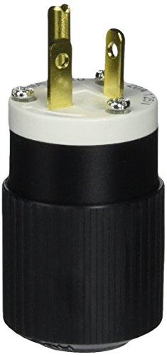 Hubbell 520SP Plug, 20A, 125V, Select-Spec, 5-20P, Black