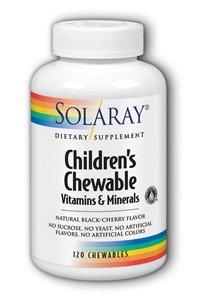 Solaray Children's Chewable Vitamins & Minerals, Black Cherry Flavor, 120 Count