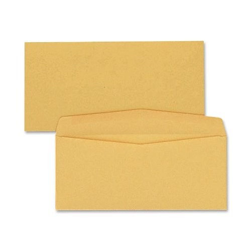 Quality Park Kraft Envelopes, #12, 4-3/4 x 11, 28lb, Brown Kraft, 500/Box (11462) (Quality Park Kraft Envelope)