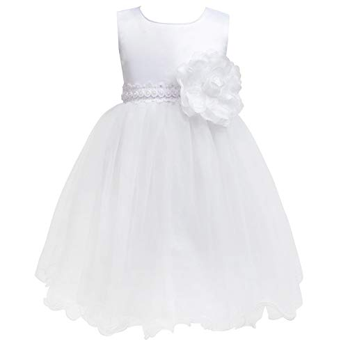 Toddler Snow White Flower Girl Dress Tulle Tutu Lace Petals Wedding Dresses Baptism Dress Bridal Dresses Christening Bridesmaid Little Girl Princess Formal Party Ball Prom 2-3 Years Size 2 3 2t 3t]()