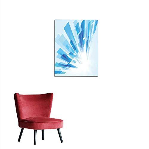 longbuyer Corridor/Indoor/Living Room Abstract Rectangles Motion Technology Digital hi tech Concept Background Mural 16