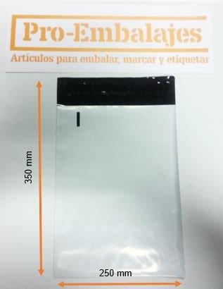 Bolsas para mensajeria en plástico - Tamaño 250 x 350 mm ...