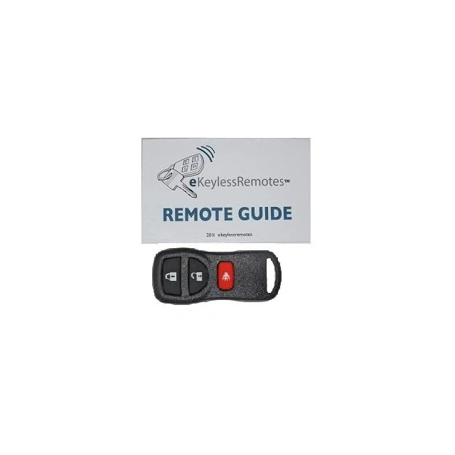 2007 2009 Nissan Versa + Hatchback Keyless Entry Remote Fob Clicker With Do It Yourself Programming+ eKeylessRemotes Guide
