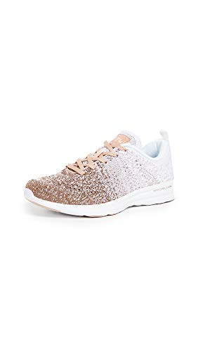 APL: Athletic Propulsion Labs Women's Techloom Pro Sneakers, Rose Gold/White/Ombre, 7.5 Medium US