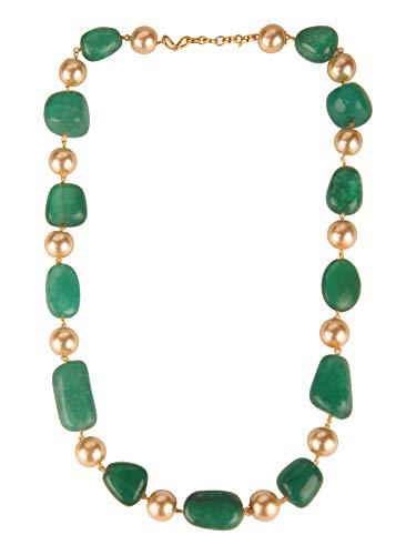 Efulgenz Indian Bollywood Green Emerald Tourmaline Pearl Beaded Strand Bridal Necklace Wedding Jewelry - Emerald Tourmaline Necklace