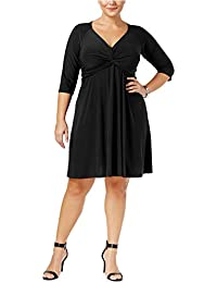 e3f6fc99f32 Womens Plus Knotted Fit   Flare Cocktail Dress · Love Squared