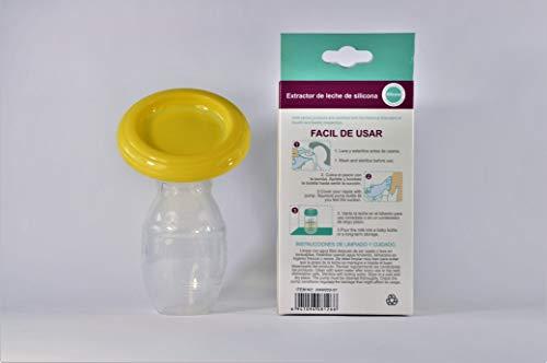 Sacaleche, extractor de leche materna, tiraleche, 100% silicona, con tapa, libre de BPA, efectivo y gentil,'manual breast...