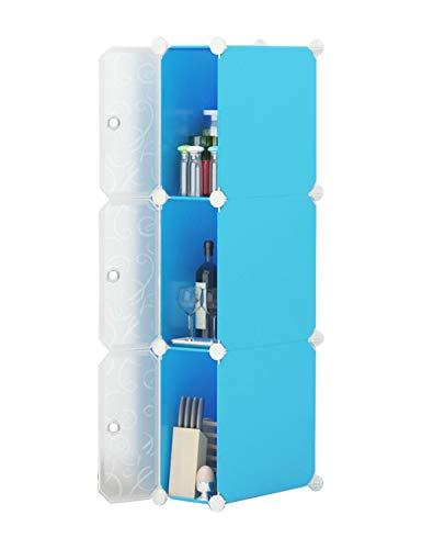 Zhhmeiruian Multifunción Estrecho Storage Cubes Unidad - Bricolaje Organizador de Gabinete Armario de Plastico Closet con...