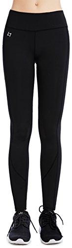 FITTIN Yoga Workout Leggings - Power Flex Pants for Fitness Running Sports Black Medium