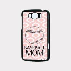 Baseball Mom Baby Pink Ikat Hipster HTC G21 Case - Fits HTC G21