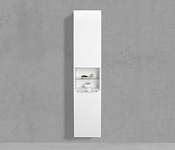 Amazon.de: Intarbad Bad Hochschrank mit Wäschekippe Seitenschrank H ...